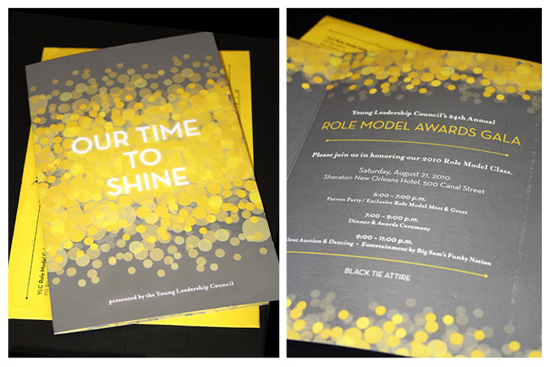 Invitation Design for Young Leadership Council's Role Model Gala