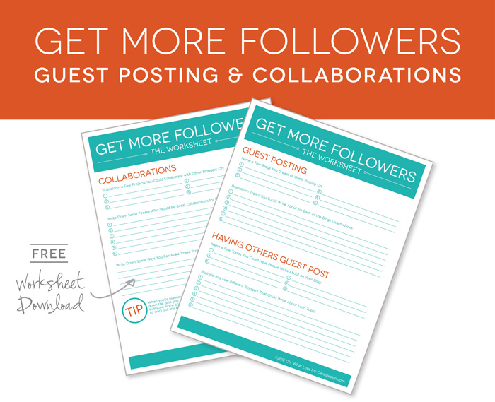 Get More Followers Guest Posting Collaborations Free Worksheet