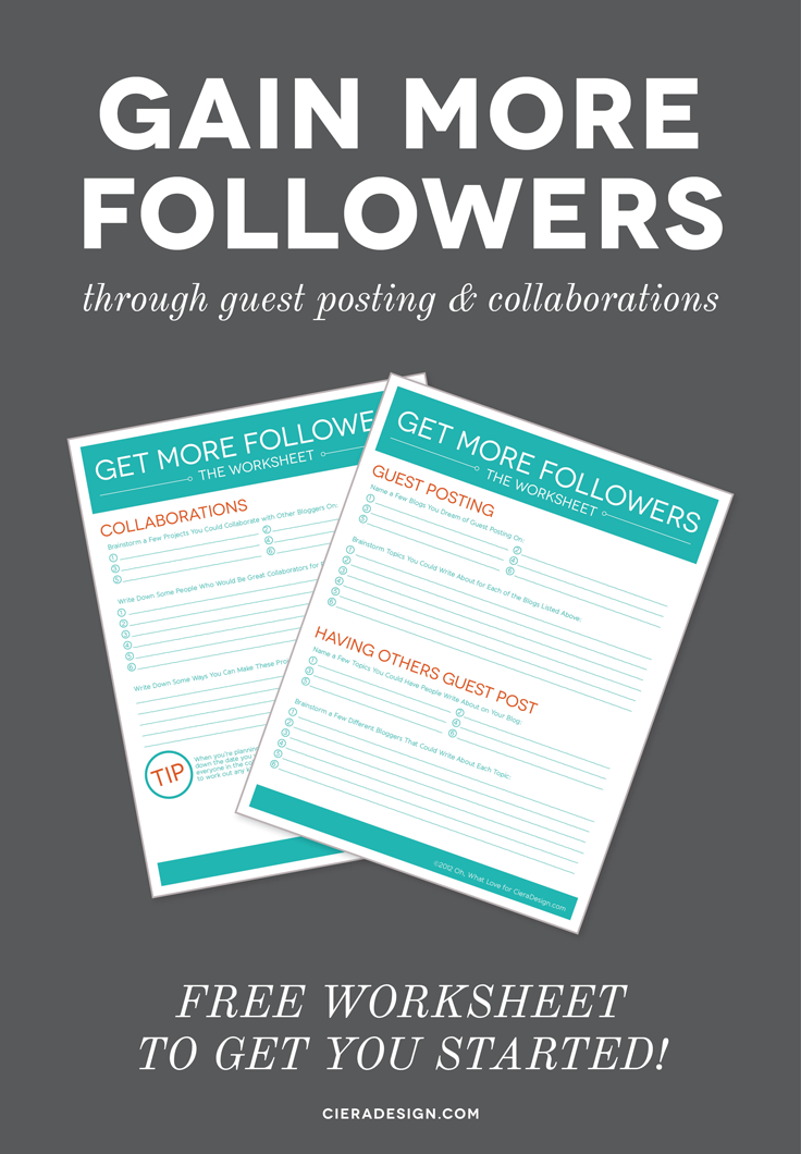 Use this free worksheet to help you get started with guest posting and collaborations!