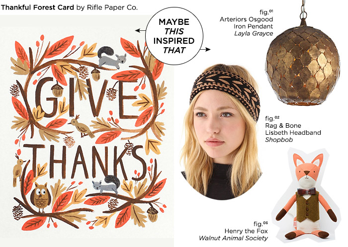 Maybe This Inspired That // Thankful Forest Card by Rifle Paper Co.