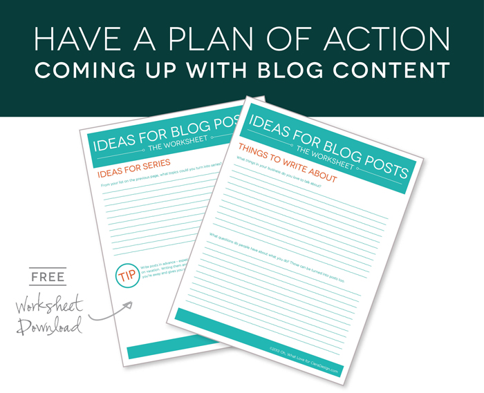 Coming Up with Blog Content via CieraDesign.com