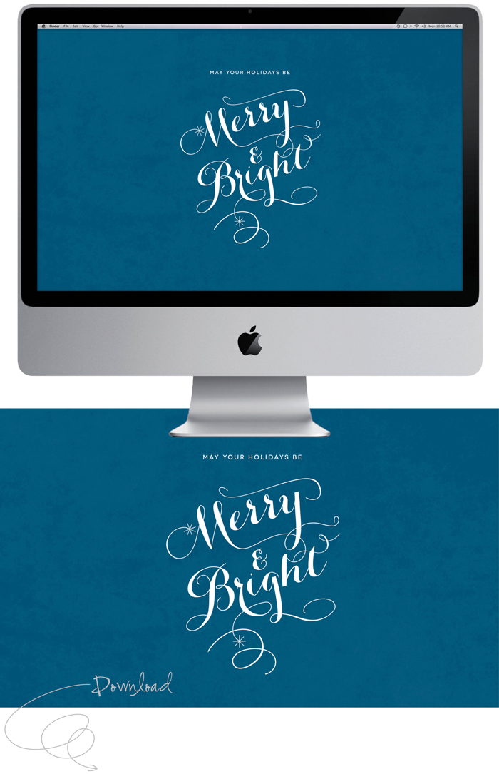 Merry & Bright – Desktop Wallpaper Freebie
