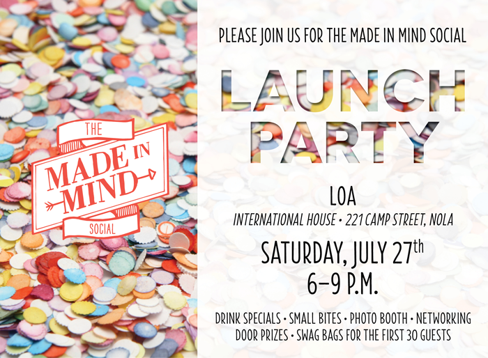 The Made In Mind Social Launch Party Evite