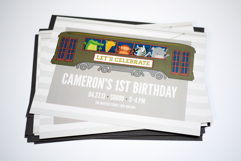 Childrens Birthday Party - Streetcar Invitation by CieraDesign.com