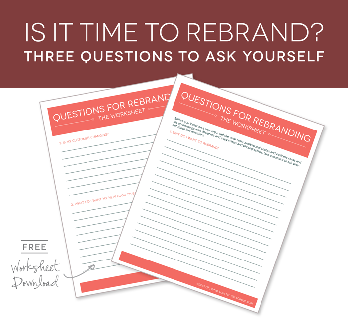 Sprucing Up Your Branding Worksheet