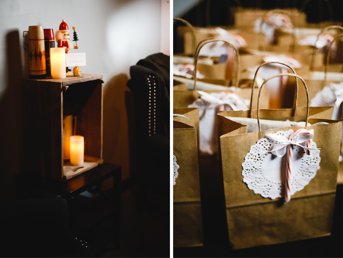 Cozy Cabin Party Decor and Swag Bags