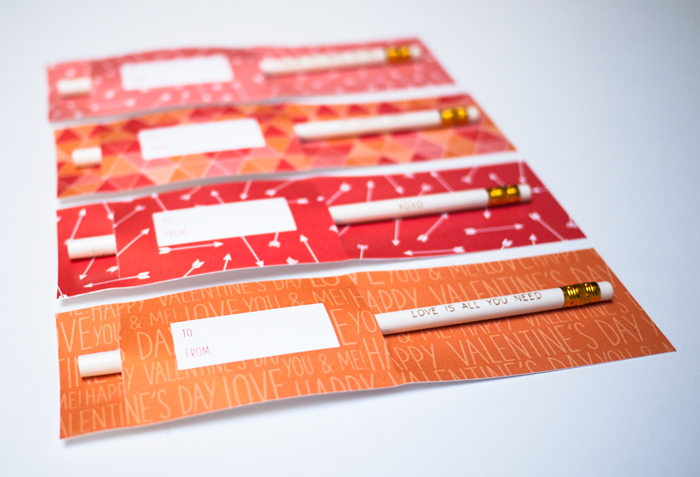 Valentine's Day Printable Freebies with Personalized Pencils