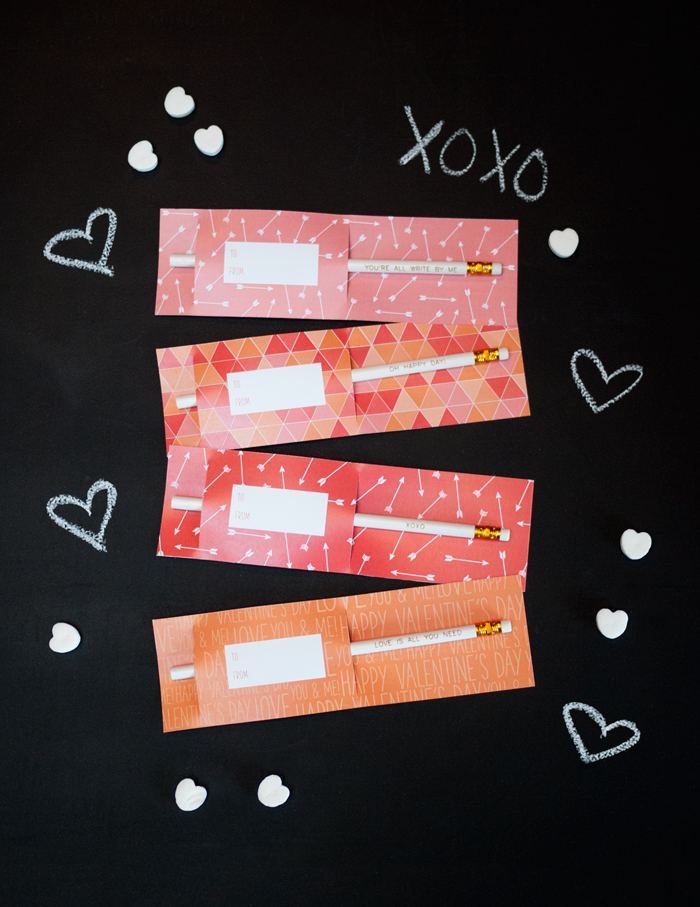 Valentine's Day  Pattern Printable on Chalkboard