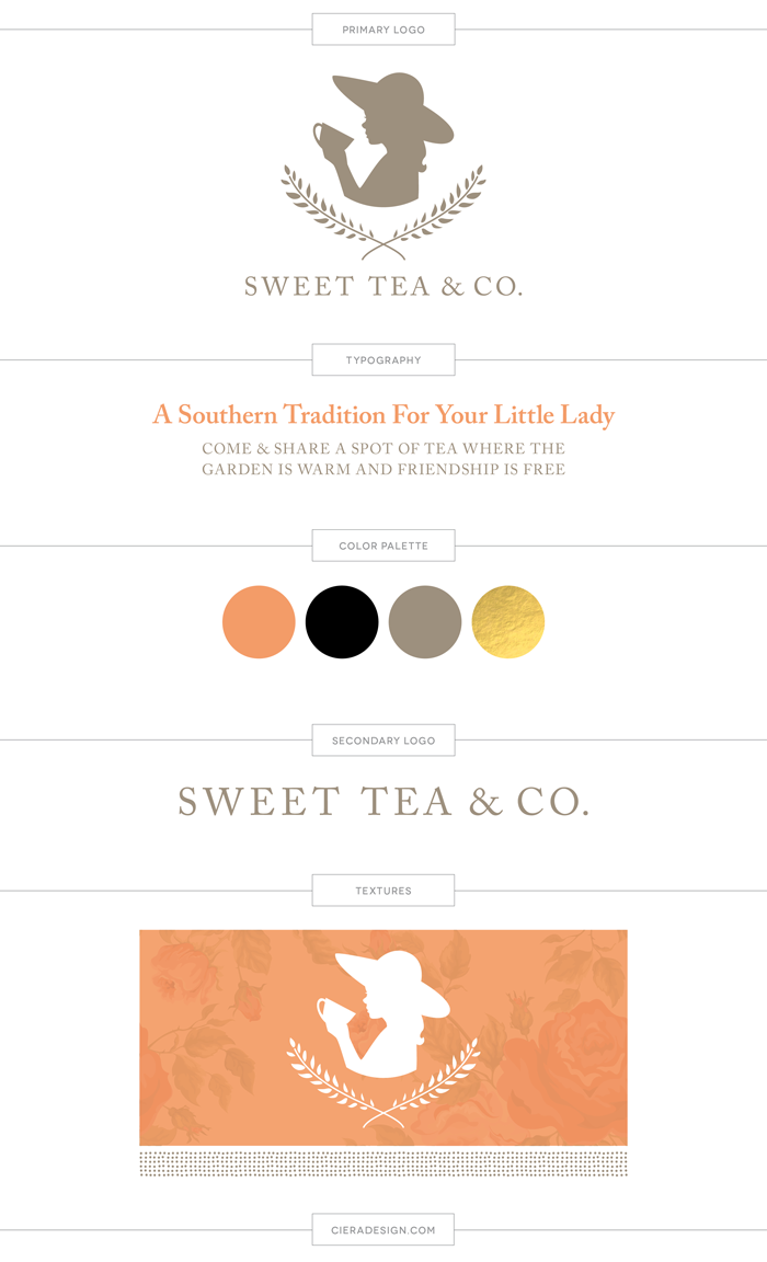 Sweet Tea Brand Board