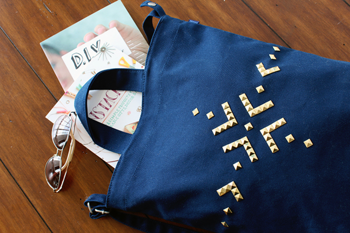 Ciera Design for Darby Smart Studded Tote Styled