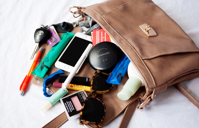 Contents Spilling Out of Purse