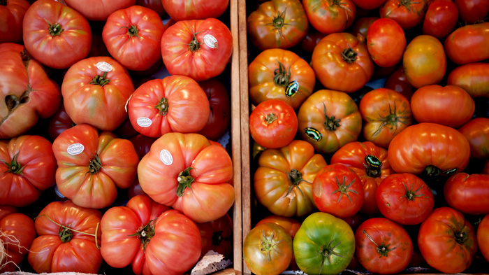 Madrid Spain Tomatoes Mercado de San Miguel