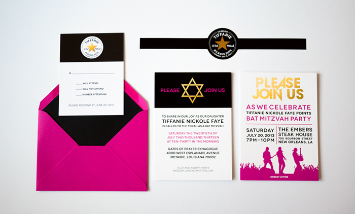 Rock Band Bat Mitzvah Invitation Suite Ciera Design