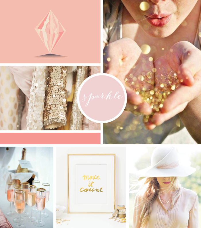 Rose Gold Inspired Moodboard