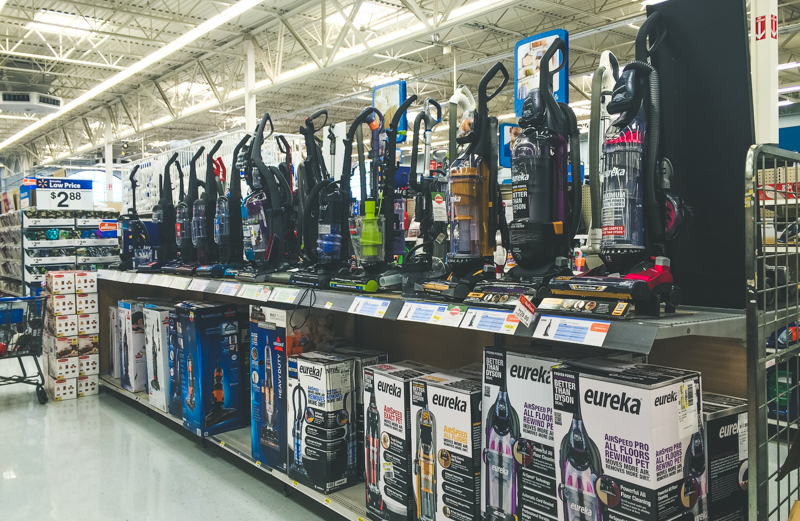 Vacuum Aisle at Walmart