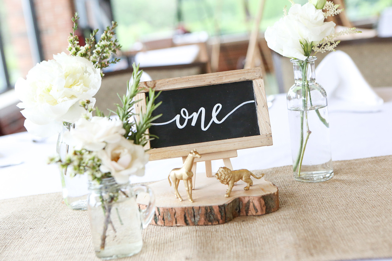 Calligraphy Floral Table Number