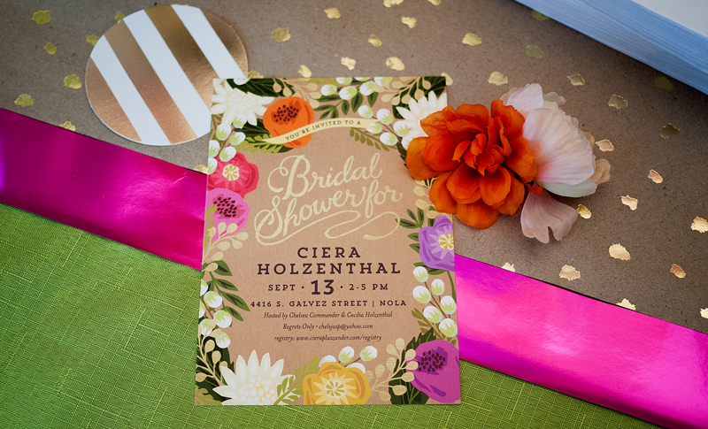 Bridal Shower Floral Canopy Invitation from Minted