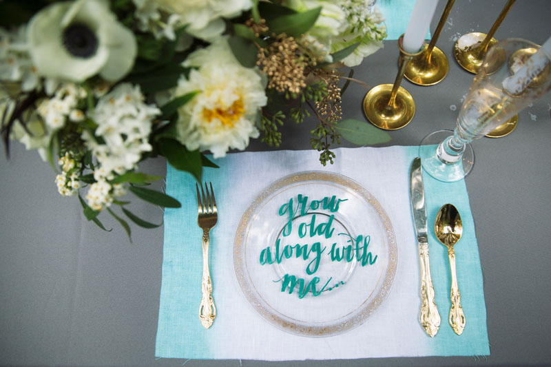 Dip-Dyed-Aqua-Gold-Wedding-Handlettered-Plate
