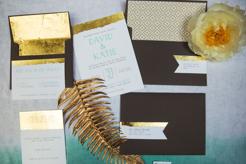 Dip-Dyed-Aqua-Gold-Wedding-Invitation-Suite